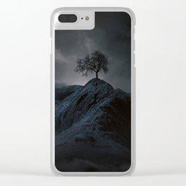 Dark Tree Clear iPhone Case