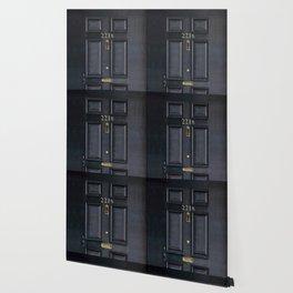 Haunted black door with 221b number Wallpaper