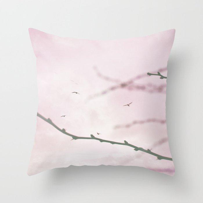 Pastel Winter Sky  Throw Pillow