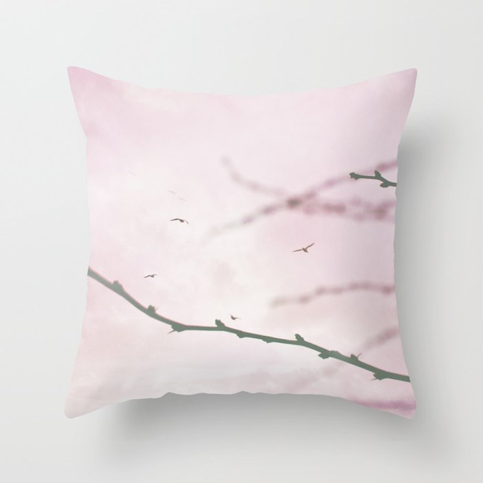 Pastel Winter Sky  Throw Pillow
