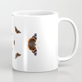 "Butterflies of the specie ""Vanessa atalanta"" Coffee Mug"