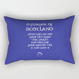 Scotland Rugby Union national anthem - Flower of Scotland Rectangular Pillow