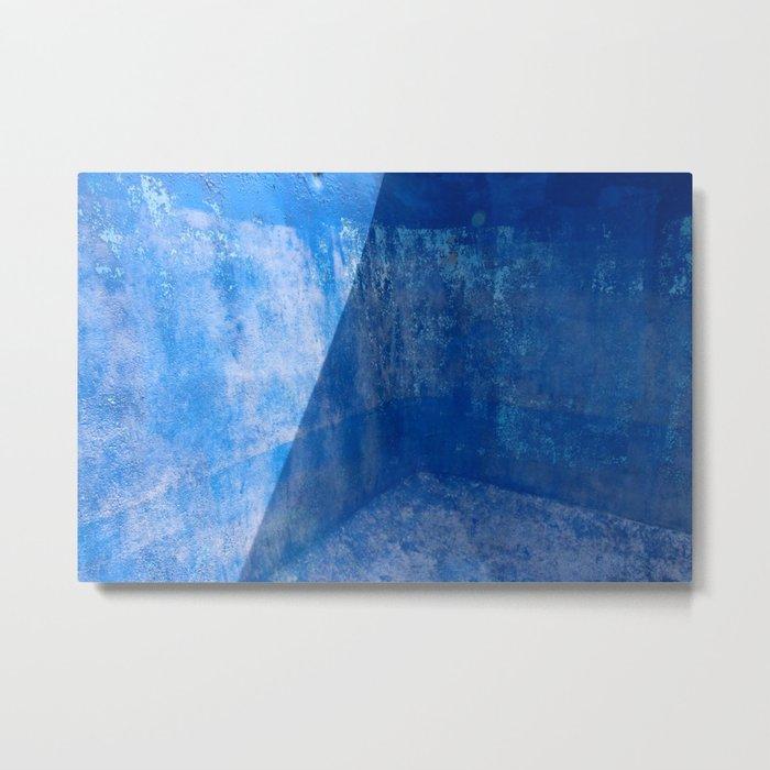 Blue Pool Shadow Abstract 1 Metal Print