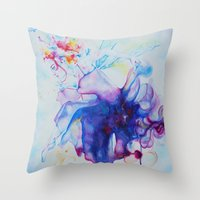 fairy tale Throw Pillows featuring Fairy Tale by Maria Lozano - Art