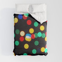 Bokeh Lights On a Black Background Comforters