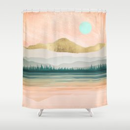 Awesome Spring Forest Lake Shower Curtain