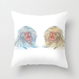 Macaco blues Throw Pillow