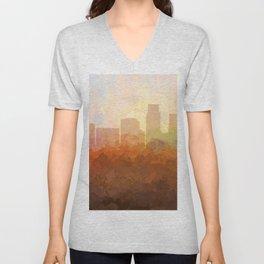 Corpus Christi, Texas Skyline - In the Clouds Unisex V-Neck