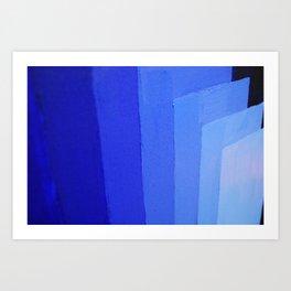 SHADES OF BLUE Art Print