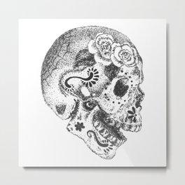 Sugarskull Metal Print