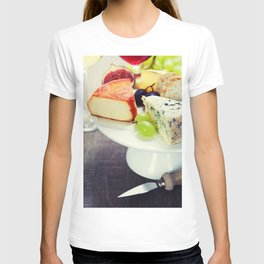 Wine and cheese plate - close up image T-shirt