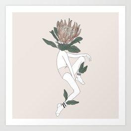 protea babe Art Print