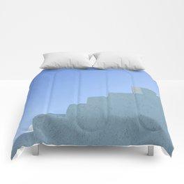 Steps in Santorini Comforters