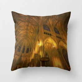 Cathedral Golden Light Throw Pillow