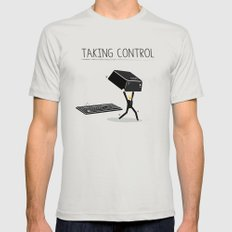 Taking Control Silver MEDIUM Mens Fitted Tee