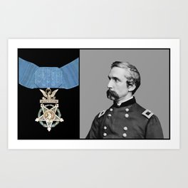 General Chamberlain And The Medal Of Honor Art Print