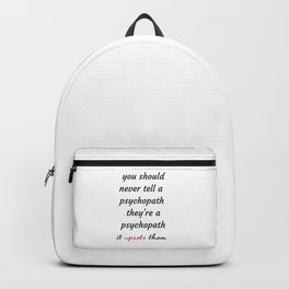 killing Eve - Sorry Baby -quote-Villanelle -Eve Polastri Backpack