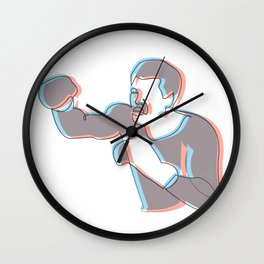 Boxing Ali (coulour) Wall Clock