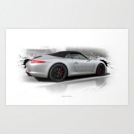 Cars: 911 Porsche Carrera GTS Art Print