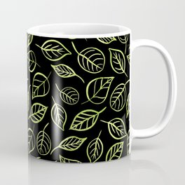 Green and black leaves pattern Coffee Mug
