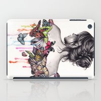 woman iPad Cases featuring Butterfly Effect by KatePowellArt