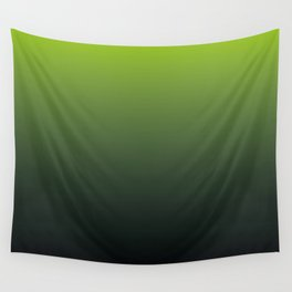 Ombre | Lime Green and Charcoal Grey Wall Tapestry