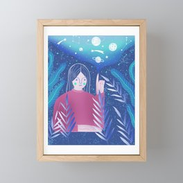 Up in space Framed Mini Art Print