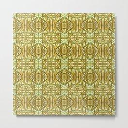 Golden Grass Pattern 821 Metal Print