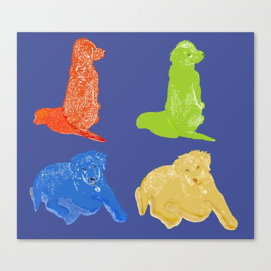 Warhol Dogs Canvas Print