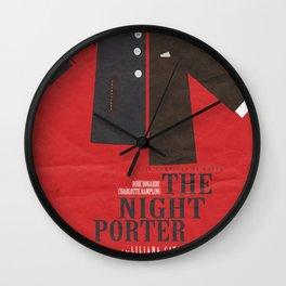 The Night Porter -  Movie Poster (Liliana Cavani, Charlotte Rampling, Dirk Bogarde) Wall Clock