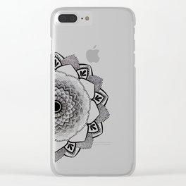 Mandala B&W II Clear iPhone Case
