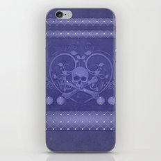 Skull with floral elements iPhone Skin