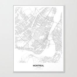 Montreal, Canada Minimalist Map Canvas Print