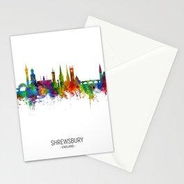Shrewsbury England Skyline Stationery Cards