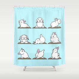 Bunnies Yoga Shower Curtain