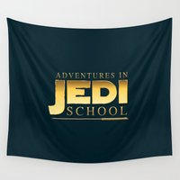 jedi Wall Tapestries featuring Adventures in Jedi School by The Cracked Dispensary