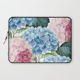 Pink Blue Hydrangea Laptop Sleeve