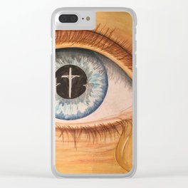 Reflection in Eye Clear iPhone Case