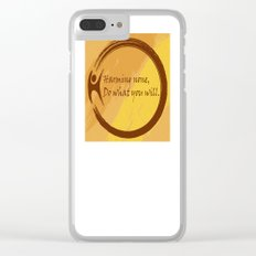 Harming None Do What You Will Color Background Clear iPhone Case