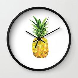 Pineapple Abstract Triangular  Wall Clock