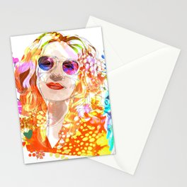 Lady and the Parrot Stationery Cards