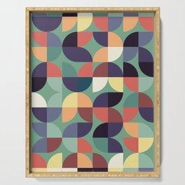 Mid century modern geometric shapes 22 Serving Tray