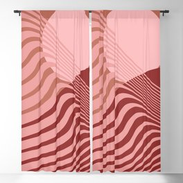 Beyond The Fog - Bronze Maroon Blackout Curtain