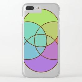 Plural Pride Clear iPhone Case