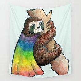 the gay hero sloth Wall Tapestry