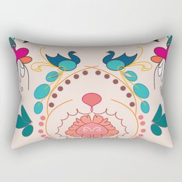 Peacock pair design Rectangular Pillow