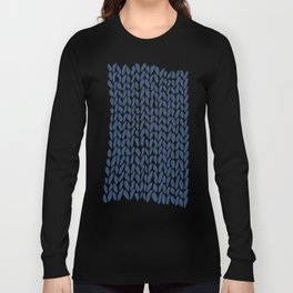 Hand Knit Zoom Navy Long Sleeve T-shirt