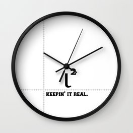 Iota - Keepin' it Real Wall Clock
