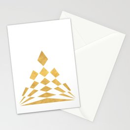 CHECKERBOARD ABSTRACT PYRAMID sacred geometry Stationery Cards