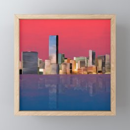 Miami Sunset Framed Mini Art Print